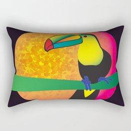 Toucan - Black Rectangular Pillow