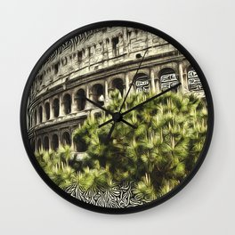 Patterns of Places - Colosseum Wall Clock