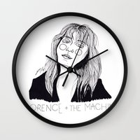 florence Wall Clocks featuring Florence by ☿ cactei ☿
