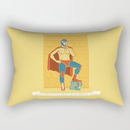 Lucha Library Rectangular Pillow