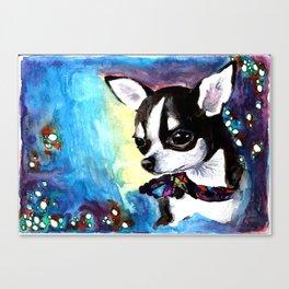 Little Dog Space Portrait 1 Canvas Print
