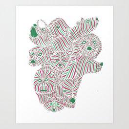 Animalgamation Art Print