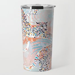 Colorful Wild Cats Travel Mug
