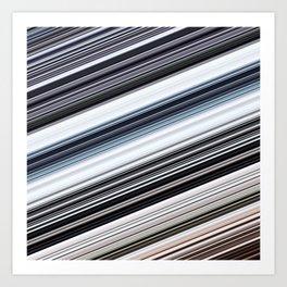 silver stripes Art Print