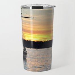 SHIPS AT SUNSET Travel Mug