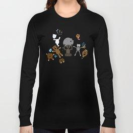 Crazy MonkeyTeddyBears Pattern Long Sleeve T-shirt