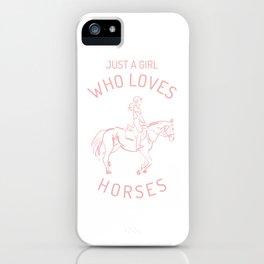 Horse Pony Riding Frieze Haflinger Saddle Gift iPhone Case