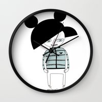 minnie Wall Clocks featuring MINNIE ME by Manola  Argento