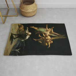 """Francisco Goya """"Witches' Flight also known as Witches in Flight or Witch"""" Rug"""
