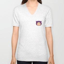alice purple cat Unisex V-Neck