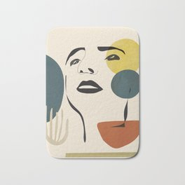 Abstract Face I Bath Mat