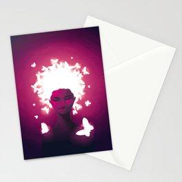 Luminescent Fuchsia Stationery Cards