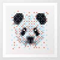 Pixel Panda Art Print