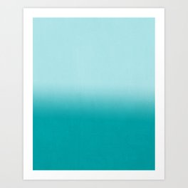 Ombre fade pastel blue trendy color way throwback retro palette 80s 90s style Art Print