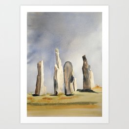 Standing stones at Callanish on the island of Lewis Art Print