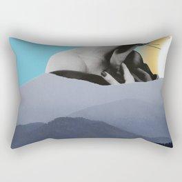 Over The Mountains - Smoking Woman Rectangular Pillow