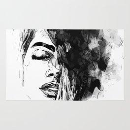 Smoking Girl Rug