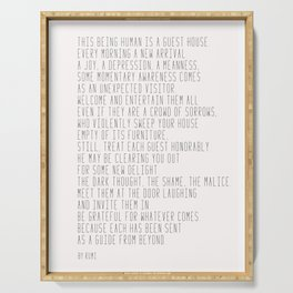 The Guest House #poem #inspirational Serving Tray