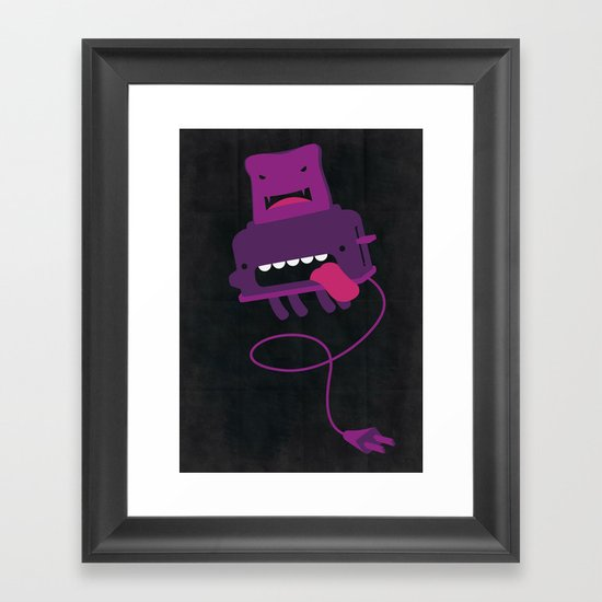 Toast made me do it Framed Art Print