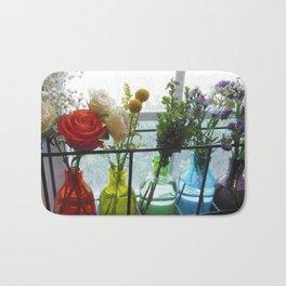 Rainbow Bouquet Bath Mat