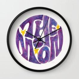 The Groovy Moon - Purple Palette Wall Clock