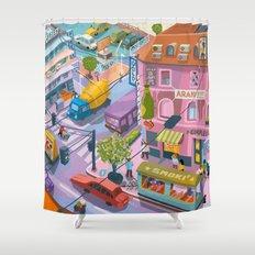 My little Budapest Shower Curtain