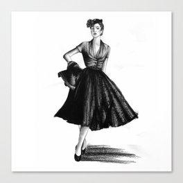 Fashion 1950 Canvas Print
