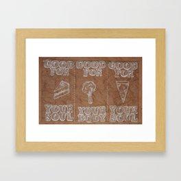Facts in White  Framed Art Print