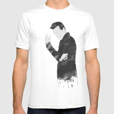 Moriarty White Mens Fitted Tee MEDIUM