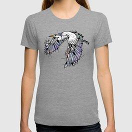 Heron Geometric Bird T-shirt