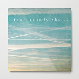 Above us only sky. Metal Print