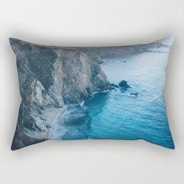 Hidden Beach - Beach Cliffs Rectangular Pillow