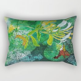 Neither Bird, Nor Bee, Nor Flying Crawfish Rectangular Pillow