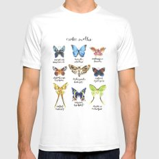 Exotic Moths White Mens Fitted Tee MEDIUM
