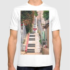 Piano <3 Staircase MEDIUM White Mens Fitted Tee