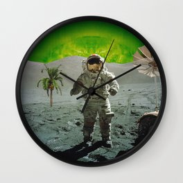 palm tree moonman Wall Clock