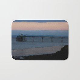 Clevedon Pier Sunset Bath Mat