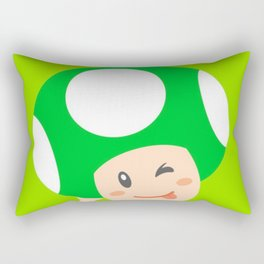 Green Toad Rectangular Pillow