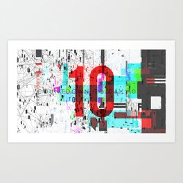 Day 0990 /// Welcome Compression Art Print