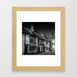 Cobbled Cafe Framed Art Print