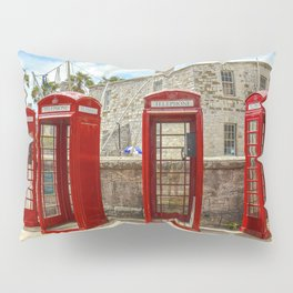 Red Phone Booths In Bermuda Pillow Sham