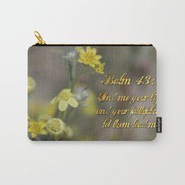 Psalm 43:3 Yellow Wildflowers Carry-All Pouch
