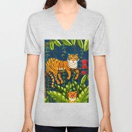 The Jungle Tiger Unisex V-Neck