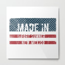 Made in Fort Sumner, New Mexico Metal Print