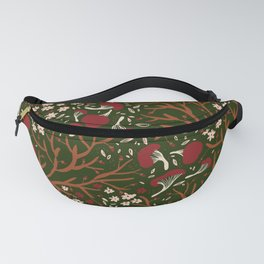 red mushrooms on green Fanny Pack
