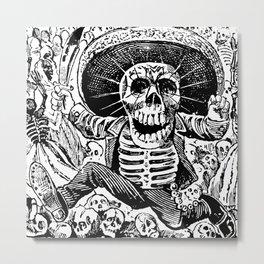 Calaveras Oaxaquena   Skeletons   Skulls   Day of the Dead   Dia de los Muertos   Posada   Circa 1852-1913   Metal Print