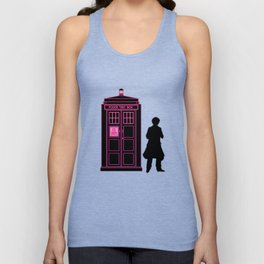 Tardis With The Sixth Doctor Unisex Tank Top