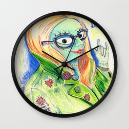 Sally's Day Off Wall Clock