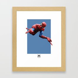 Spider-Man Polygon Mesh Framed Art Print