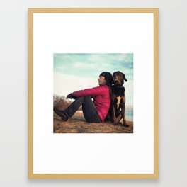 someone to lean on Framed Art Print